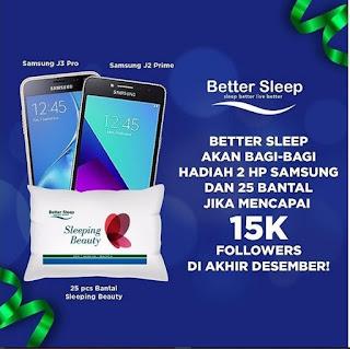 Kuis Instagram Berhadiah Menarik dari Better Sleep   WebBudi.com