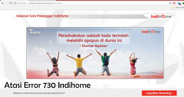 Cara Mengatasi Indihome 730 Internal Server Error