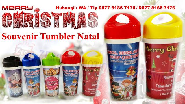 Souvenir Natal Tumbler atau souvenir botol minum Untuk Acara Natal & Sekolah minggu, Special Christmas Tumbler Souvenir