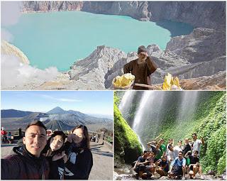 Ijen Crater, Mount Bromo, Madakaripura Waterfall Tour 3 Days