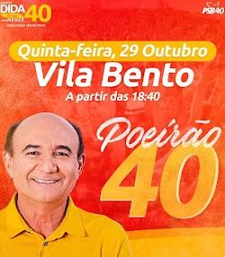 AGORA É A VEZ DA VILA BENTO, GRANDE POEIRÃO