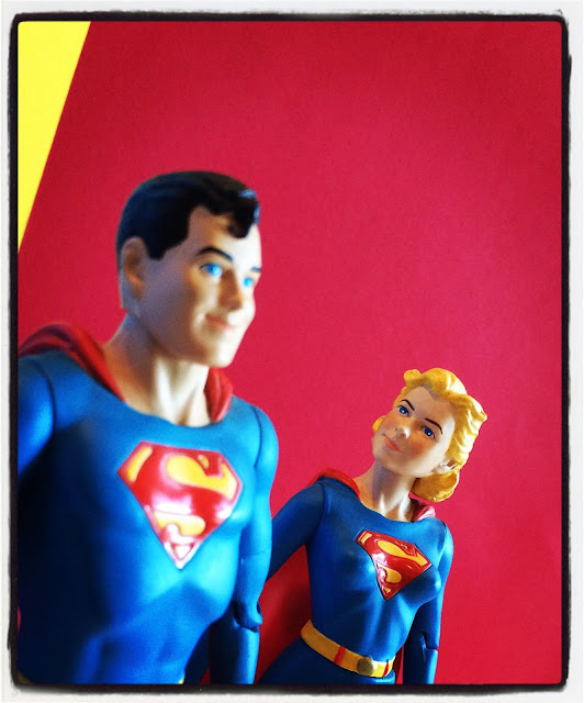DC Direct Superboy and Supergirl figures