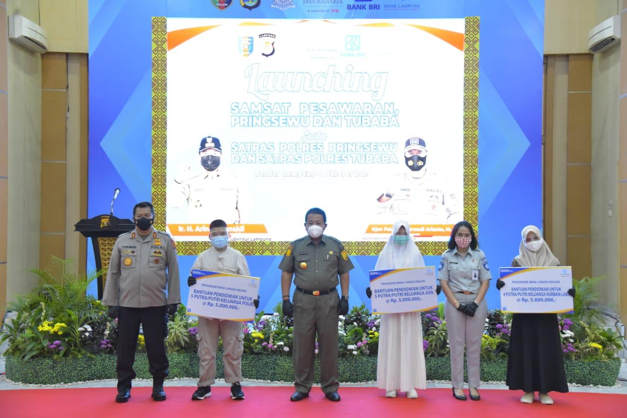 Kapolda Lampung Launching 3 Samsat Baru dan Dua Satpas Polres