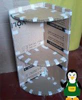 Muebles hechos con cartón