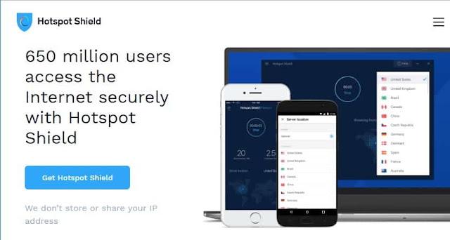 15 Rekomendasi Layanan VPN Gratis Terbaik - Rekomendasi layanan vpn gratis terbaik Hotspot Shield