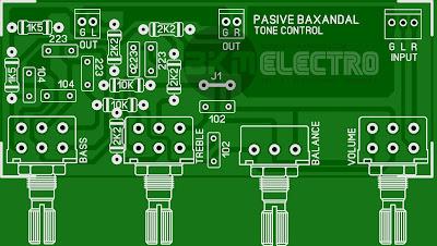 Layout PCB Tone Control Pasive stereo Baxandal