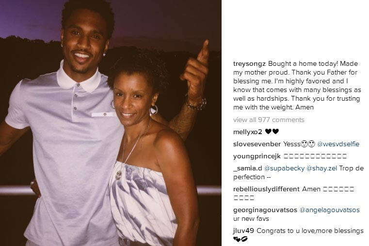 """Trey Songz buys house, says """"thank you Father for blessing me"""""""