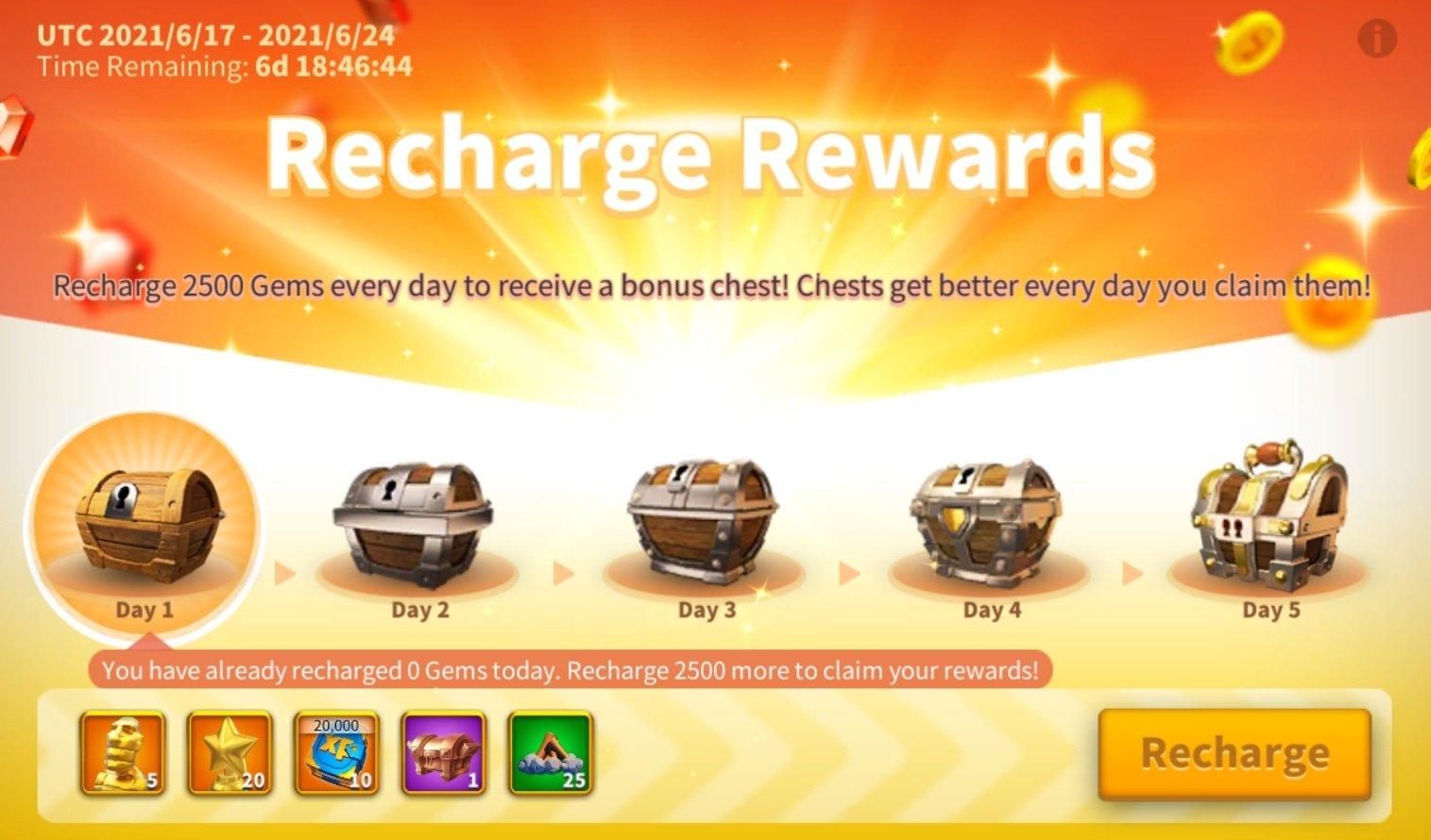 recharge rewards rise of kingdoms rok