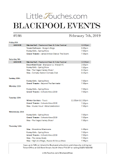 B2B Blackpool Hotelier Free Resource - Blackpool Shows and Events February 8 to February 14 - PDF What's On Guide Listings Print-off #146 Thursday February 7