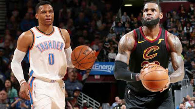 Russell Westbrook and LeBron James