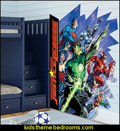 DC Justice league Burst Logo Wall Decal