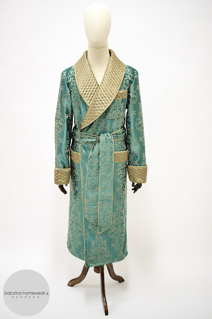 mens luxury quilted silk robe dressing gown paisley