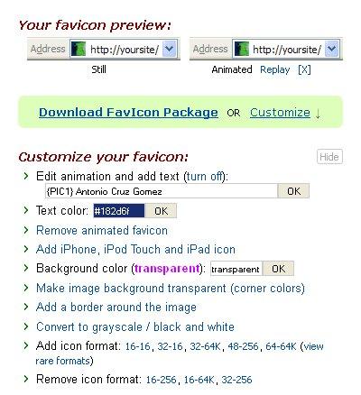 Descargar Favicon online