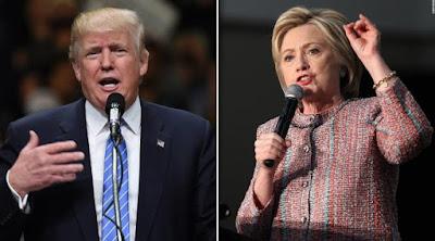 Donald Trump 'Unggul' Sementara atas Hillary Clinton