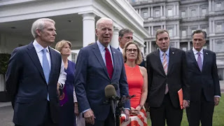 """Biden announced that """"we have a deal,"""" signaling a bipartisan agreement infrastructure plan"""