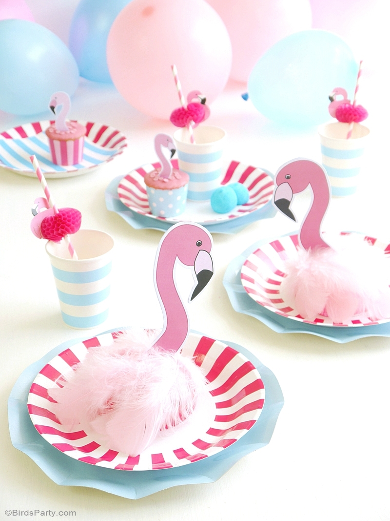 diy flamingo birthday party decorations party ideas party printables blog. Black Bedroom Furniture Sets. Home Design Ideas