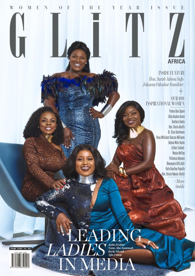 Anita Erskine, Afia Pokua, Nana Aba Anamoah, Berla Mundi covers Glitz Africa Magazine Issue 23