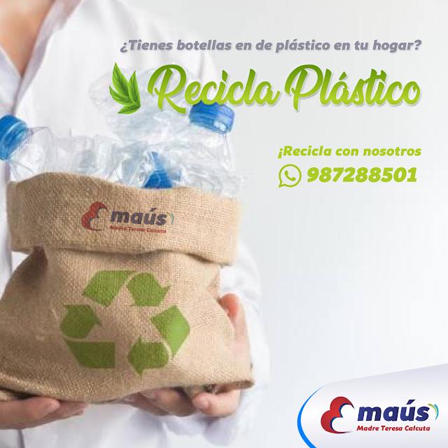 ¿Tienes botellas en de plástico en tu hogar? Recicla Plástico en Lima