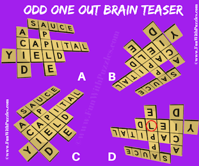 Answer of Odd One Out Word Crossword Puzzle