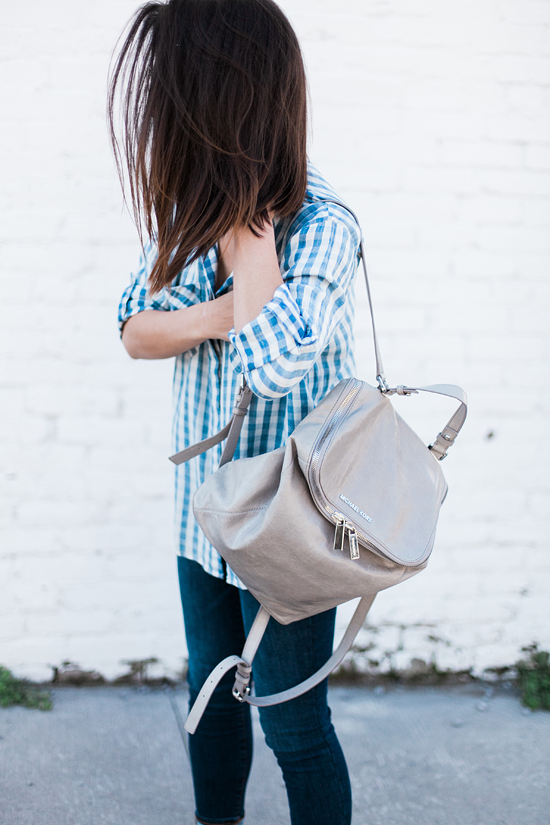 Here&Now: oversized gingham top