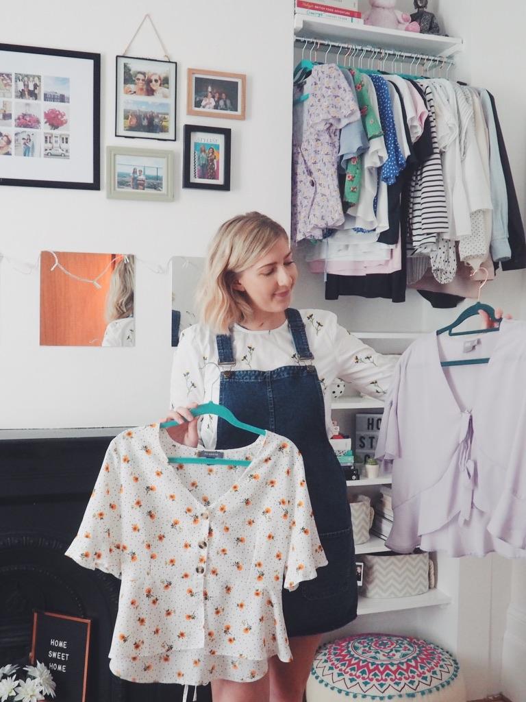 clothingstorage, howistoremyclothes, storing clothes, fashionbloggers, livinginahouseshare, londonliving