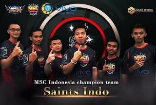 Build Item yang Digunakan Saints Indo Mobile Legends