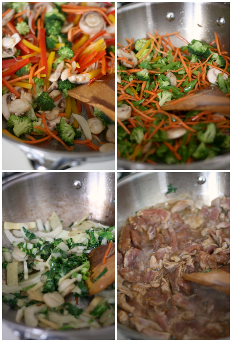 making Chop Suey using #OXOCookware 12-inch wok