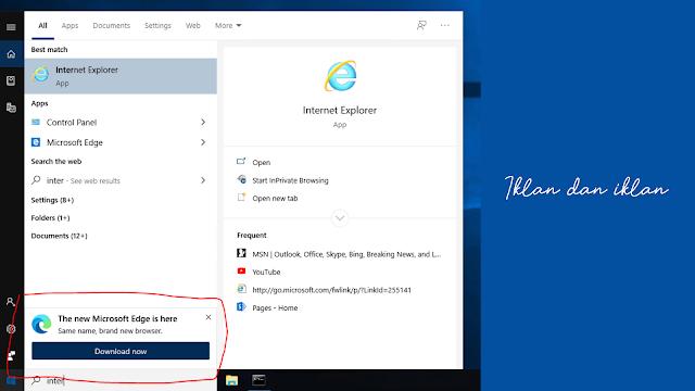 Lagi! Iklan Microsoft Edge Terus Ditampilkan Microsoft Di Windows 10