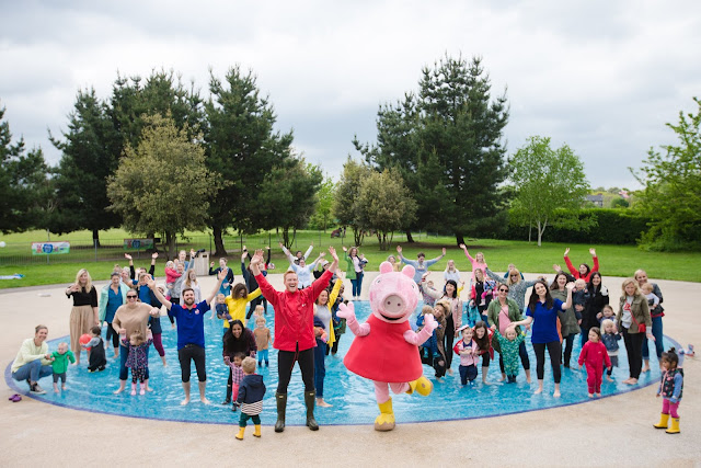 Peppa Pig's Puddle Jumping World Record Attempt Raises Funds for Save the Children UK
