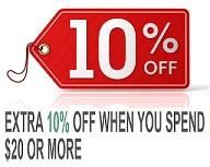 10% off on $20+