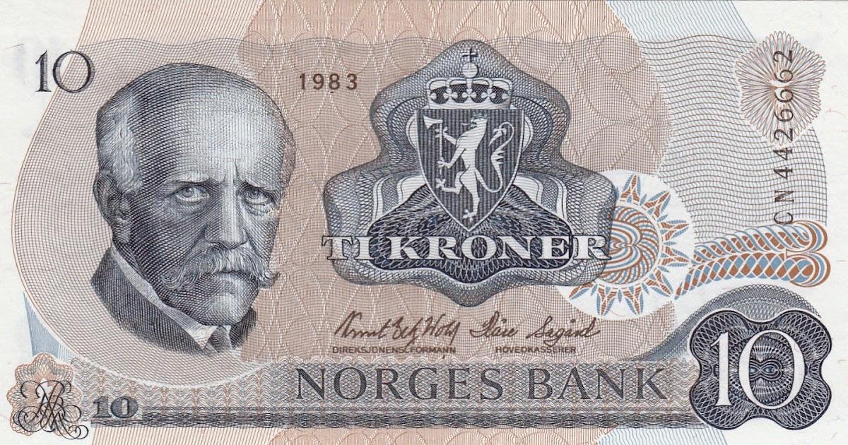 Norway 10 Kroner Banknote 1983 Fridtjof Nansen World Banknotes Amp Coins Pictures Old Money