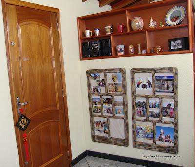 Fotos de viagem em janela de decoração