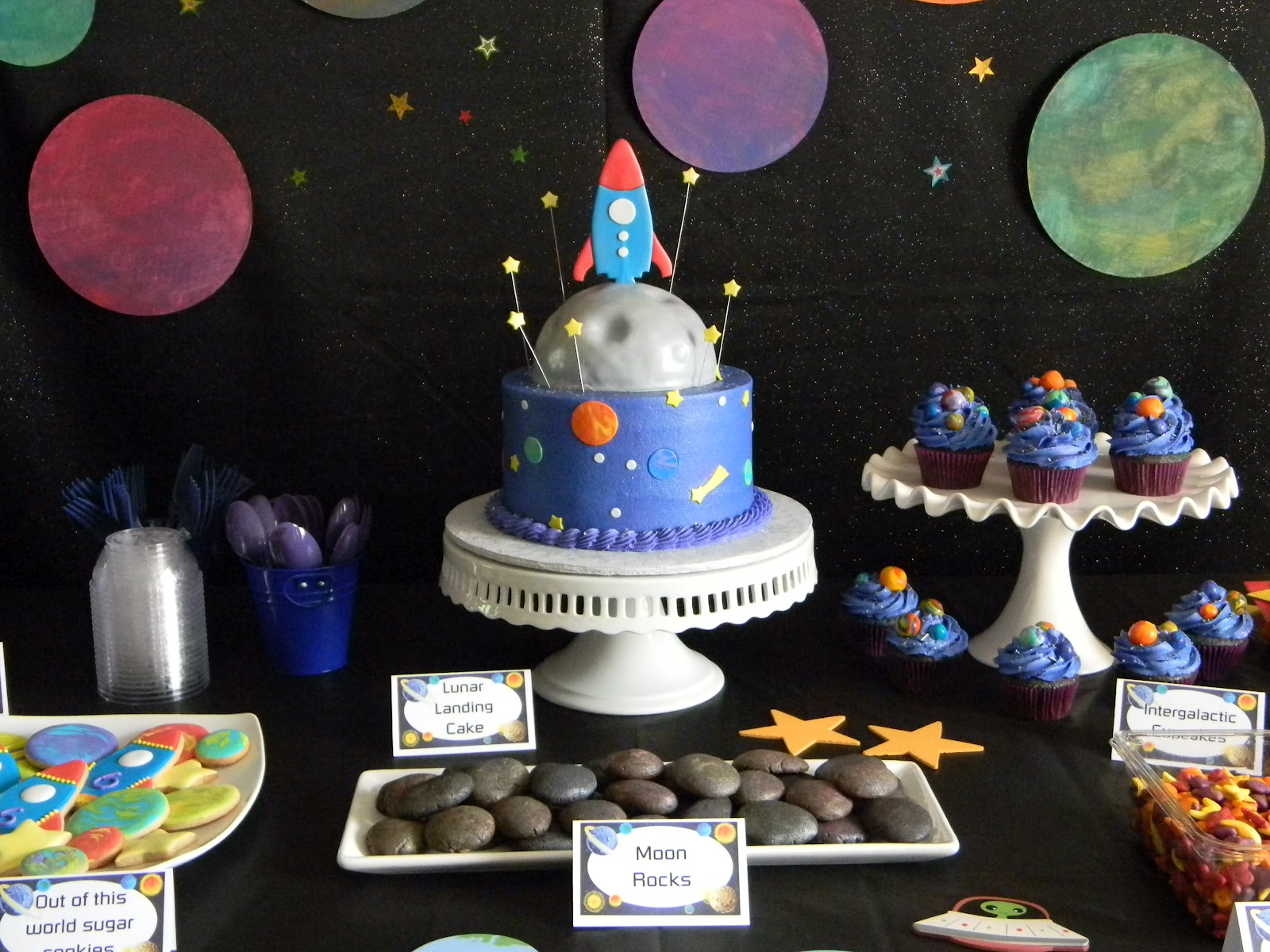 Space Rocket Birthday Cake