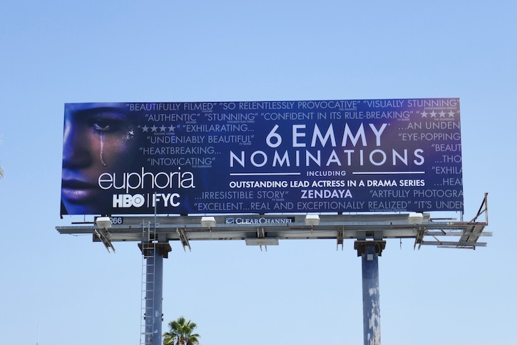 Euphoria season 1 Emmy nominee billboard