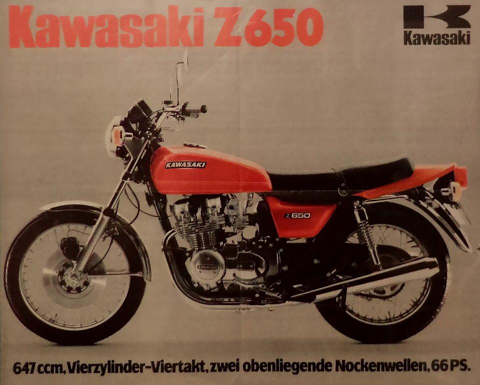 Plakat von 1977 -  Z 650 B1