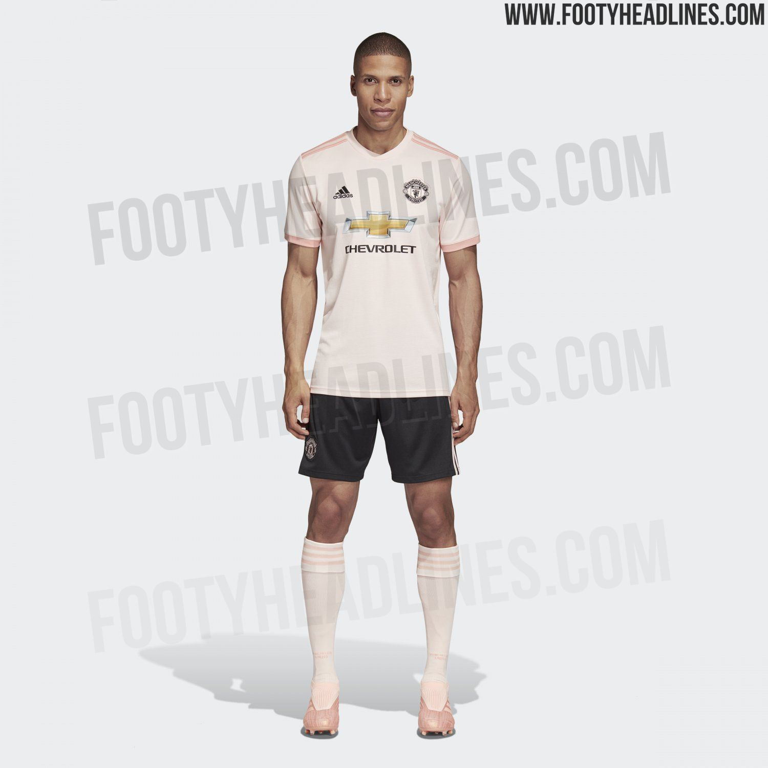 38b75e6c1a54e Black shorts and socks in the same color as the shirt complete the kit. The  new Manchester United ...