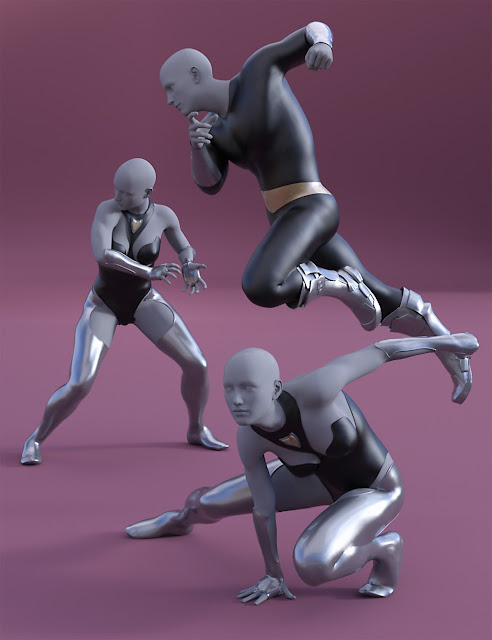 Superhero Poses for Genesis 2 and 3