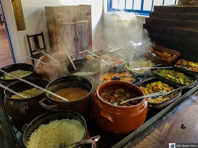 Almoço servido na Pousada do Caraça - Onde se hospedar no Santuário do Caraça