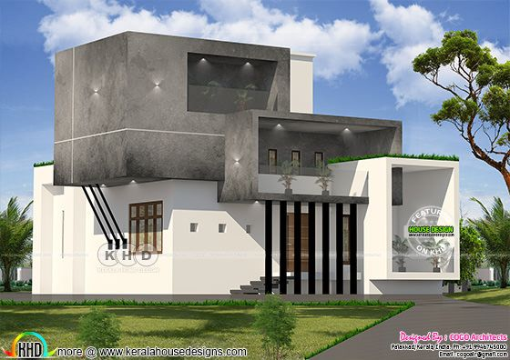 Box type 4 bedroom house rendering