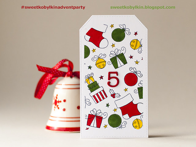 Advent Calendar with Santa's Elves from My Favorite Things - Day 5
