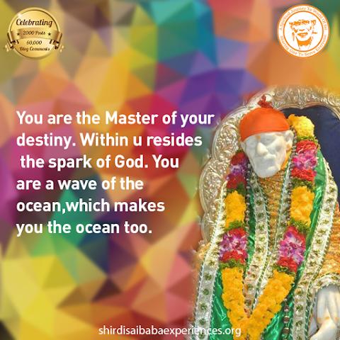 Master Of Destiny - Sai Baba Idol On Throne Image