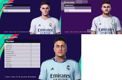 PES 2021 Facepack Real Madrid Youngsters