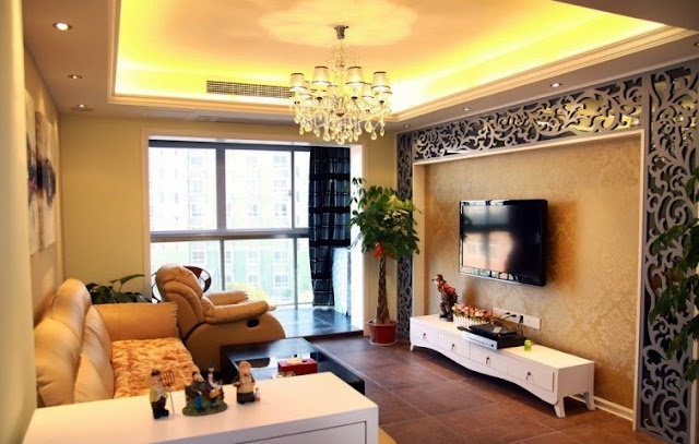 wall paints for living room with designs