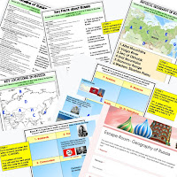 Russia Digital Escape Room RUSSIAN Geography Vocabulary Activity  Mapping Russia Activity Physical Geography of Russia Activity Key Facts About Russia Activity Timeline of Russian History Activity