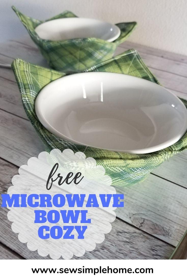free microwave bowl cozy pattern sew