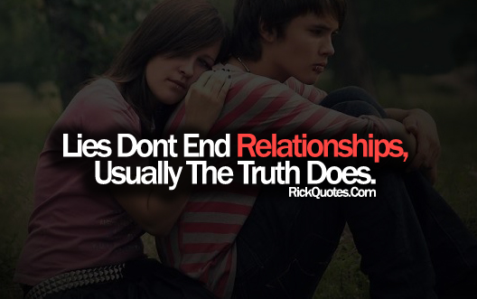 Relationship Quotes | Lies Don't End Relationships Couple Hug Sad Romantic
