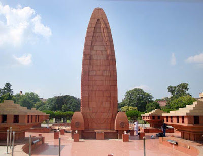 Massacre memorial in Jallianwala Bagh Garden, Amritsar.