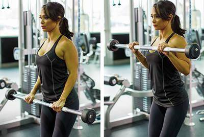Biceps curl with pronation grip