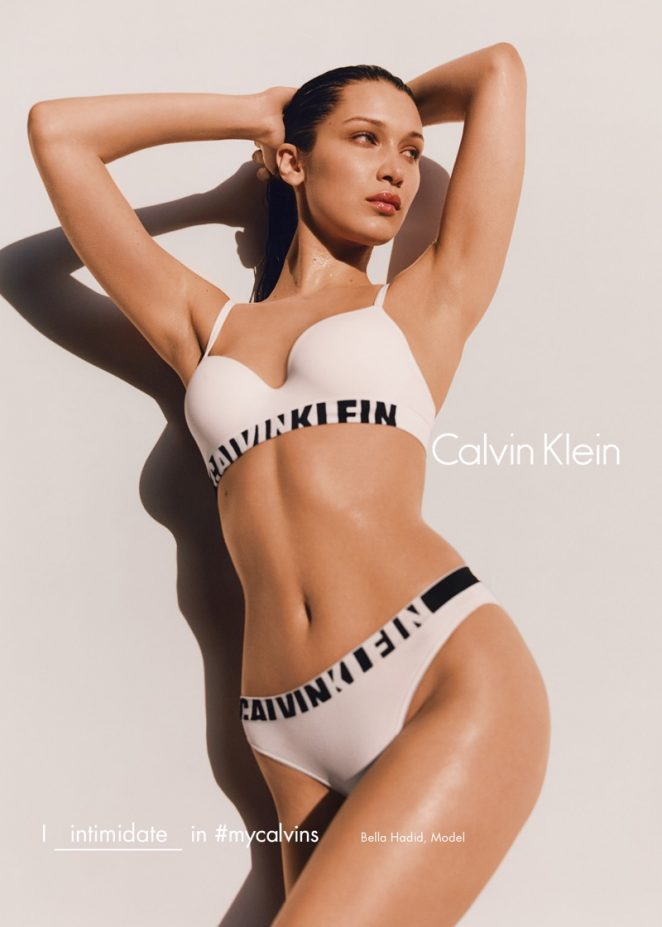 Bella Hadid strips to undies for Calvin Klein's Fall 2016 Campaign