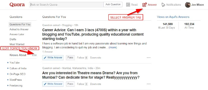 Quora Knows About